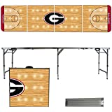 Georgia Bulldogs 8 Foot Portable Folding Tailgate Table Basketball Court Version