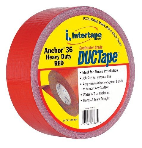 Anchor 4335 AC36 Heavy Duty DUCTape 1.87-Inches x 60-Yards, 11-Mil, Red by Intertape Polymer (Intertape Anchor)