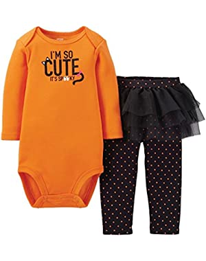 Just One You Made by Carter's 2pc Halloween Set I'm So Cute It's Spooky Baby Girls