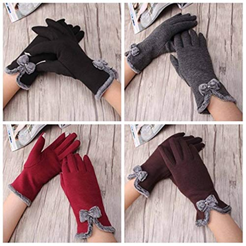 1 Pc (1 Pair) Women Wrist Wool Winter Glove Bow Mittens Unisex Mens Womens Girls Toddler Preeminent Popular Extreme Gym Baseball Rawlings Tactical Work Hand Straps Dryer Touch Gloves