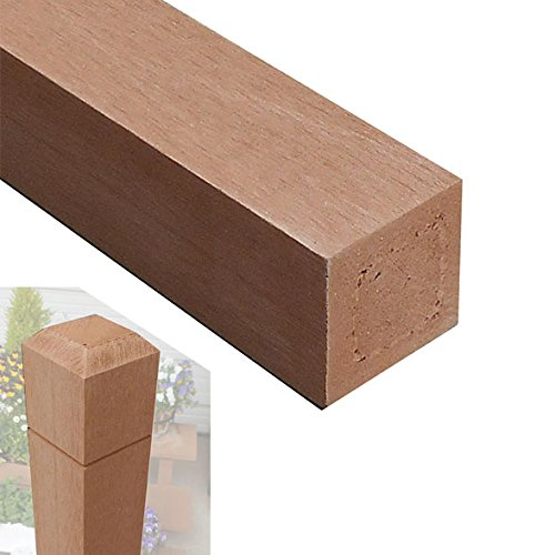 無垢タイプ アイウッド人工木無垢材ラティスポスト H210cm×6cm角4本セット ナチュラル igarden アイガーデン B072FRCXBD 13000