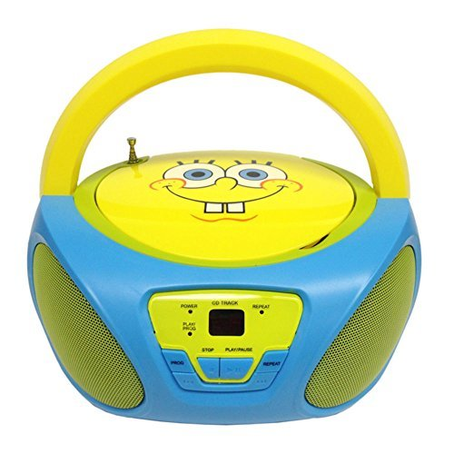 SpongeBob SquarePants Boombox CD Player AM/FM Radio W/Built in Speakers 56062GRO Electronic Accessories