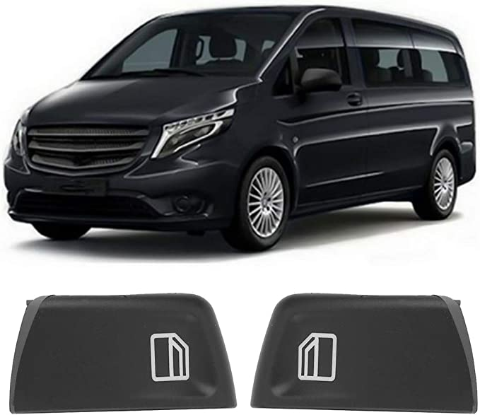 Qiilu Window switch cover,Window switch button cover caps for Vito Viano W639 Sprinter II 906 2003-2013,2pcs left and right