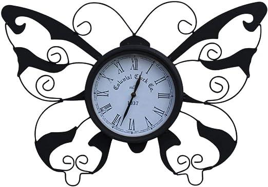 Garden Market Place Reloj de jardín con diseño de Mariposas y batería para Uso en Interiores o Exteriores: Amazon.es: Jardín