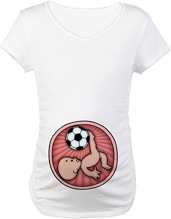 15d873dd727a7 CafePress Soccer Baby Kick Maternity T-Shirt Cotton Maternity T-shirt, Cute  &