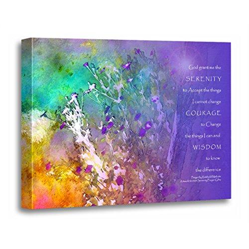 TORASS Canvas Wall Art Print Twelvestep Serenity Prayer Flowers and Twelve Artwork for Home Decor 12