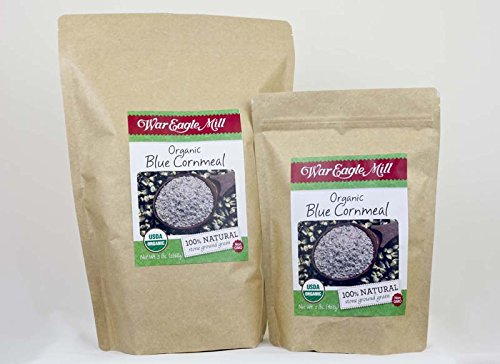 War Eagle Mill Organic Blue Cornmeal in a resealable bag (2lbs) by War Eagle Mill