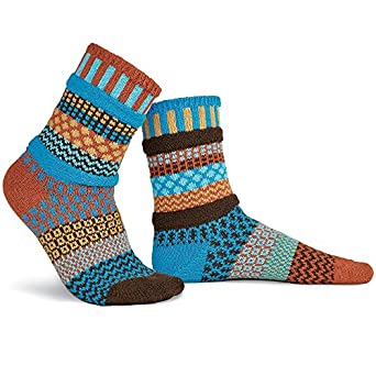 Solmate Socks, Mismatched Crew Socks, Made in USA with
