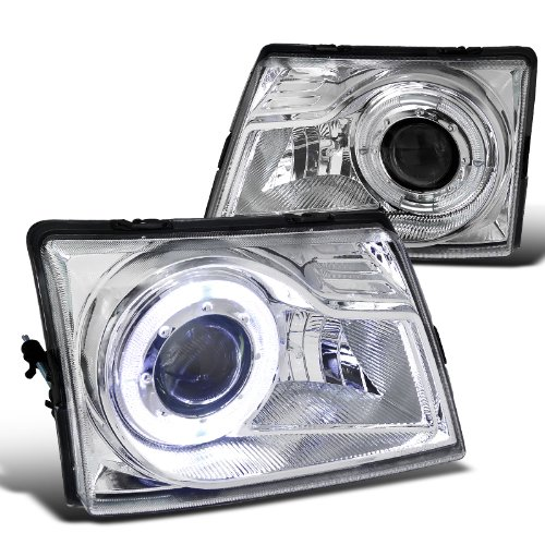 Spec-D Tuning LHP-RAN98-RS Chrome Projector Headlight (Halo Housing)