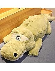 60-120 cm Creatieve leuke Krokodil Liggen Sectie Pluche Kussen Mat Pluche Krokodil Zachte Knuffel Speelgoed Cartoon Pluche poppen 120 cm Groen