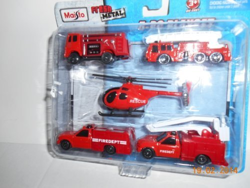 Review Die-cast 5-PC PLAY Set/Fire