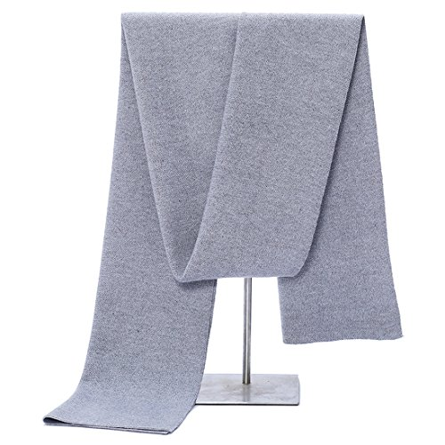 HUAYI Men's Knitting Wool Knitted Scarves Solid Color Business Scarf from HUAYI