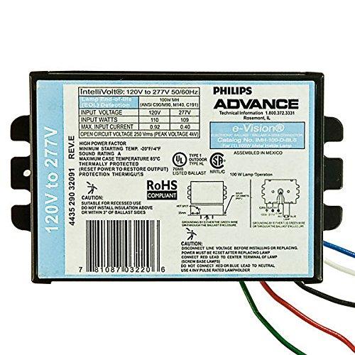 Advance IMH100DBLS-M - 100W - Electronic Metal Halide Ballast - ANSI C90/M90 M140 C191 - 120/277V