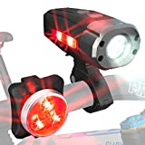 HeroBeam Ultimate USB Rechargeable Bike Light Set – Unique Side Visibility LEDs – The Safest Lighting Combination Set with Front and Rear Bicycle Lights – Easy to Install for Adults and Kids