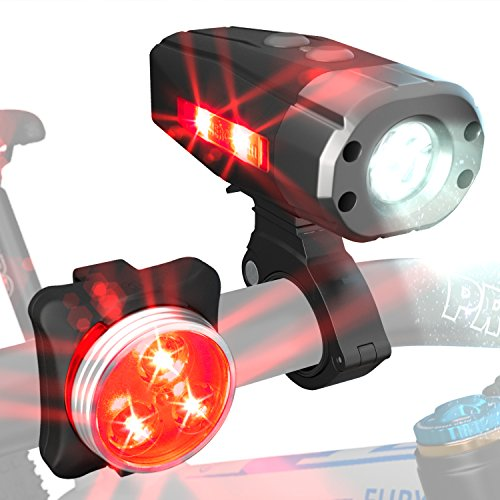 HeroBeam Ultimate USB Rechargeable Bike Light Set - Unique Side Visibility LEDs - The Safest Lighting Combination Set with Front and Rear Bicycle Lights - Easy to Install for Adults and Kids