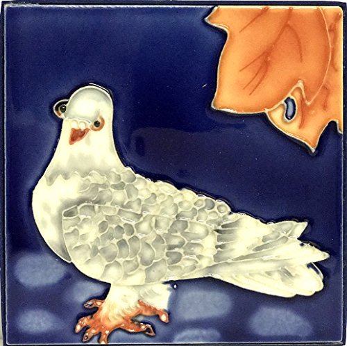 1 , WHITE BIRD , Decorative Tile, Art on a Ceramic Tile, about, 4