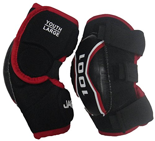 (JAMM 1001 Soft Elbow Pad Hockey, Junior, Large)