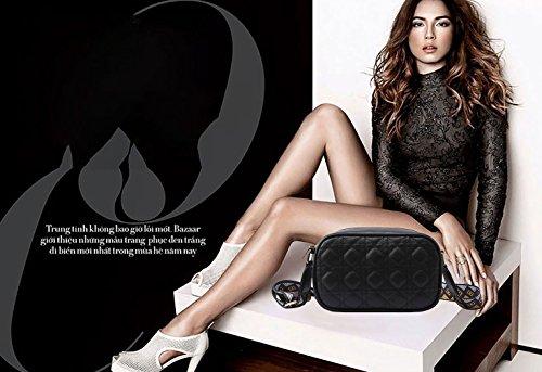 de PU de bandolera mujer hombro Fekete Amarillo Bolsos bolsos DEERWORD Cuero Bolsos Bolsos para Shoppers totes y R4PT1q