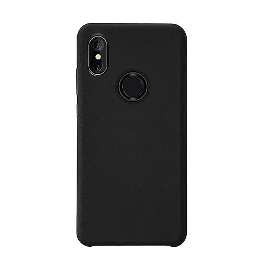half off 5e801 04b74 Xiaomi Mi A2 Case Liquid Silicone Gel Rubber Shockproof Case Soft  Microfiber Cloth Cover for Xiaomi Mi 6X