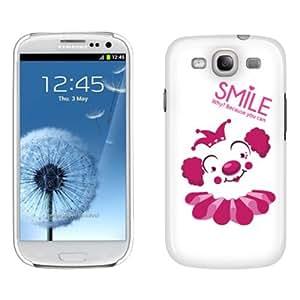 Fincibo (TM) Back Cover Hard Plastic Protector Case for Samsung Galaxy S3 III i9300 i747 L710 I535 T999 - Happy Clown