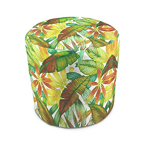 Fabric Outdoor Ottoman - Stratford Home Indoor / Outdoor Ottoman Pouf, Cantrell Spring