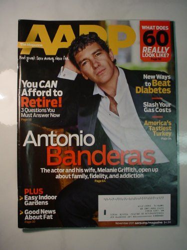 Used, Aarp, Antonio Banderas, November, 2011 (Aarp) for sale  Delivered anywhere in USA