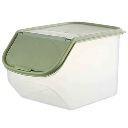 LAAT Clamshell Rice Storage Box Bulk Storage Bins Covered Various