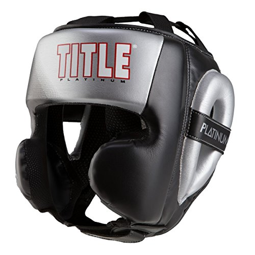 TITLE Platinum Proclaim Power Training Headgear, Black/Silver, Medium