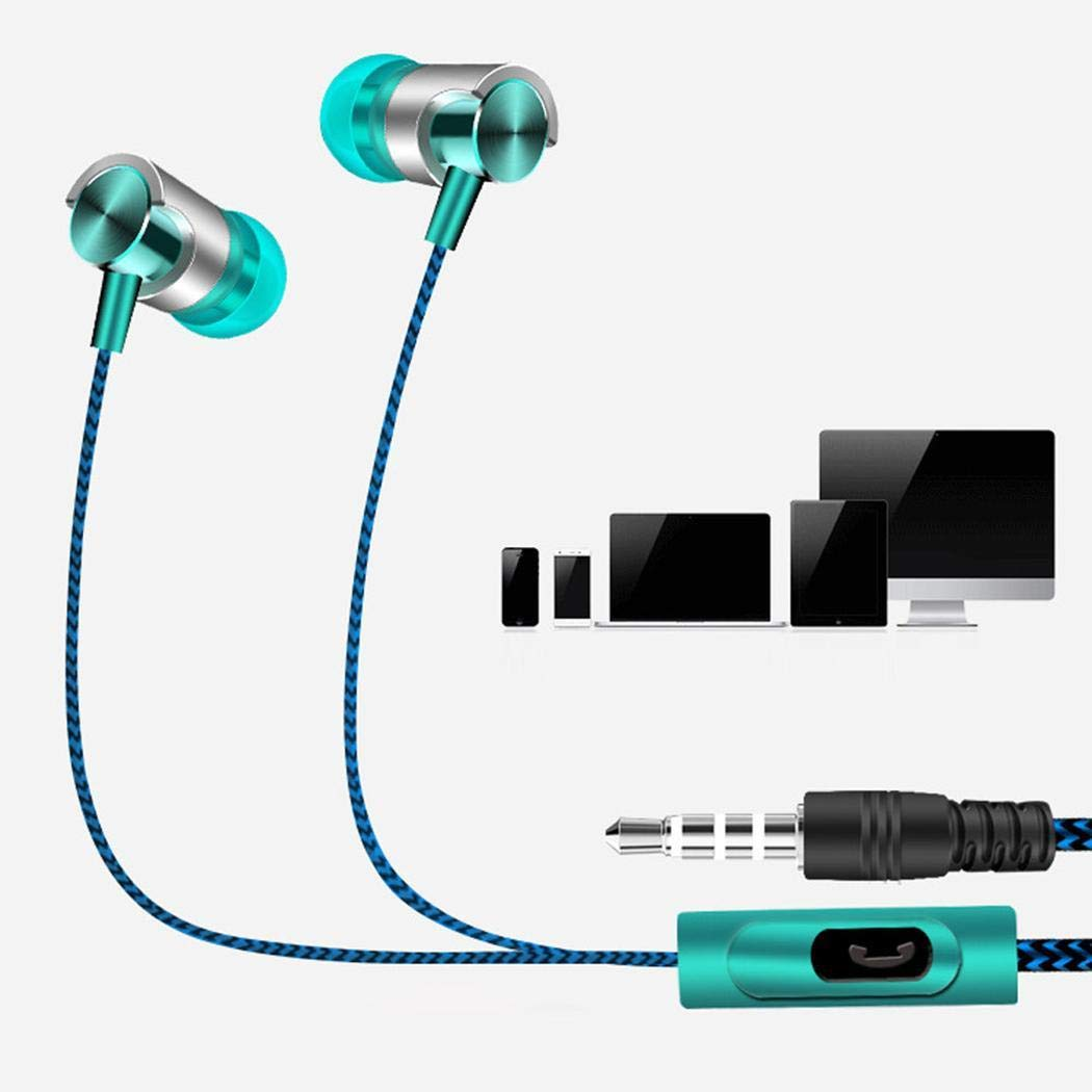 gonikm General Wired in-Ear Stereo Earphone Super Music Headset with Microphon Earbud Headphones