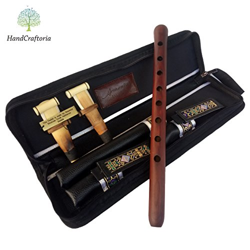 SALE - Professional Armenian DUDUK instrument Handmade From ARMENIA, leather case, 2 Pro reeds, Playing Instruction - Apricot Wood in Key A - Flute Oboe Balaban -