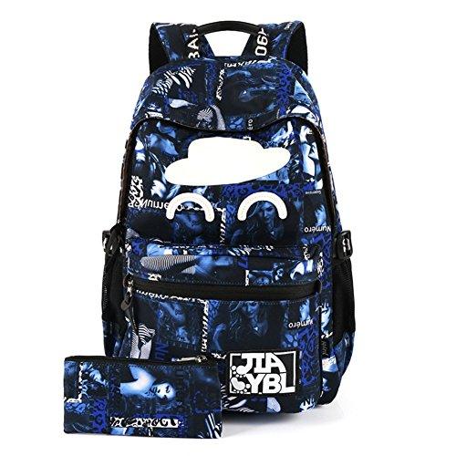 DACHUI Luz de gran capacidad bolsa, mochila de moda casual-D B