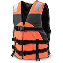 Multi-Sport Personal Flotation Device Life Vest with Hi-Visibility Reflective Panels and Threading by Crown Sporting Goods