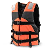 Multi-Sport Personal Flotation Device Life Vest with Hi-Visibility Reflective Panels and Threading by Crown Sporting Goods (Safety Orange)