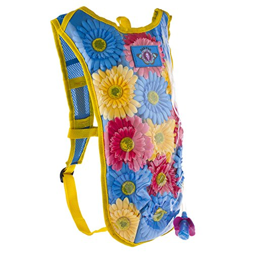 Dan-Pak Hydration Pack 2l - Flower Child -Perfect for raves, festivals, hiking, camping, biking, and more!