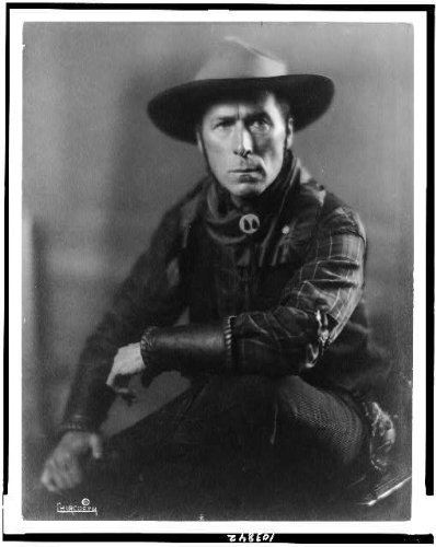Silent Film Costume (Photo: William Surrey Hart,cowboy outfit,characters,costumes,silent film actors,c1918)