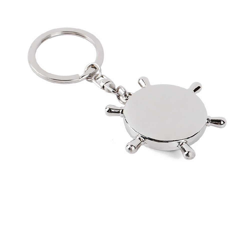 Amazon.com: La brújula magnética para llaves de plata para ...