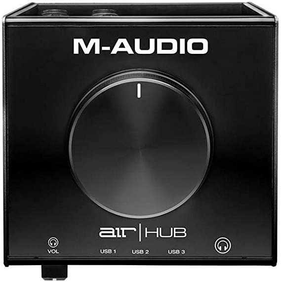 M-Audio AIR|HUB - USB Audio Interface with 3-Port Hub and Recording Software from Pro-Tools & Ableton Live