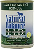 Natural Balance Limited Ingredient Diets, Lamb and Brown Rice Formula, Canned Dog Food, 13-Ounce, Pack of 12, My Pet Supplies