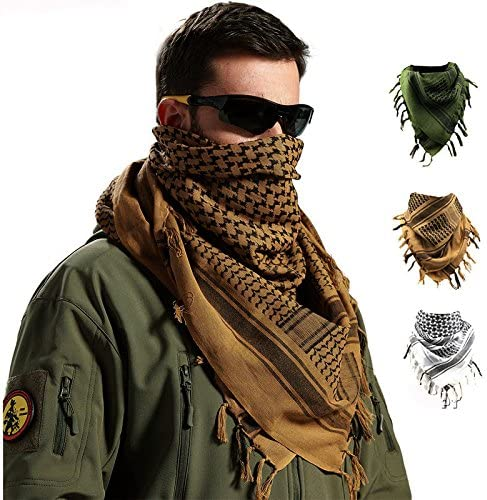 Vin beauty wlgreatsp Hombres Bufanda de cuello al aire libre Shemagh militar a prueba de viento Colores multifunci/ón Pa/ñuelo En Alg