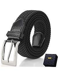 Fairwin Elastic Braided Belt, 1.3'' Men's Stretch Belt, Fabric Woven Belt
