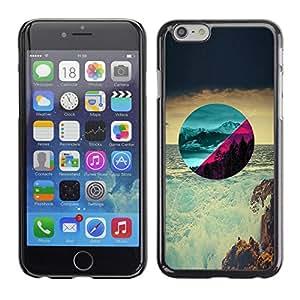 EJOY---Cubierta de la caja de protección la piel dura para el / Apple Iphone 6 Plus 5.5 / --Hermosos paisajes