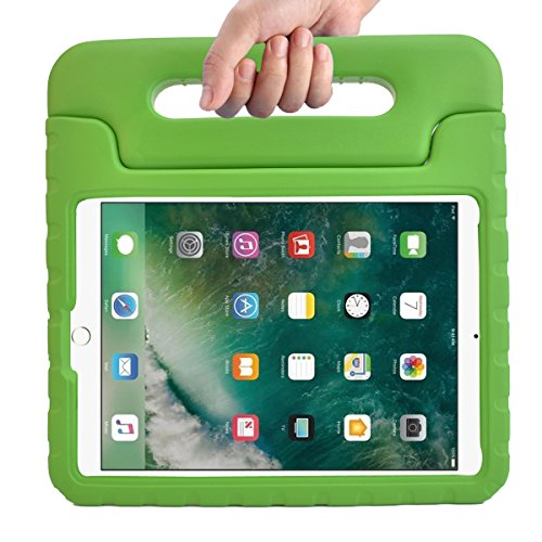 BMOUO New iPad 9.7 Inch (2017) Case - ShockProof Case Light Weight Kids Case Cover Handle Stand Case for Apple iPad 9.7 Inch 2017 New Model - Green