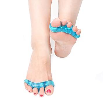 EINYOU Gel Toe Separator for Bunions - Gel separador de dedos para juanetes esparcidor - un