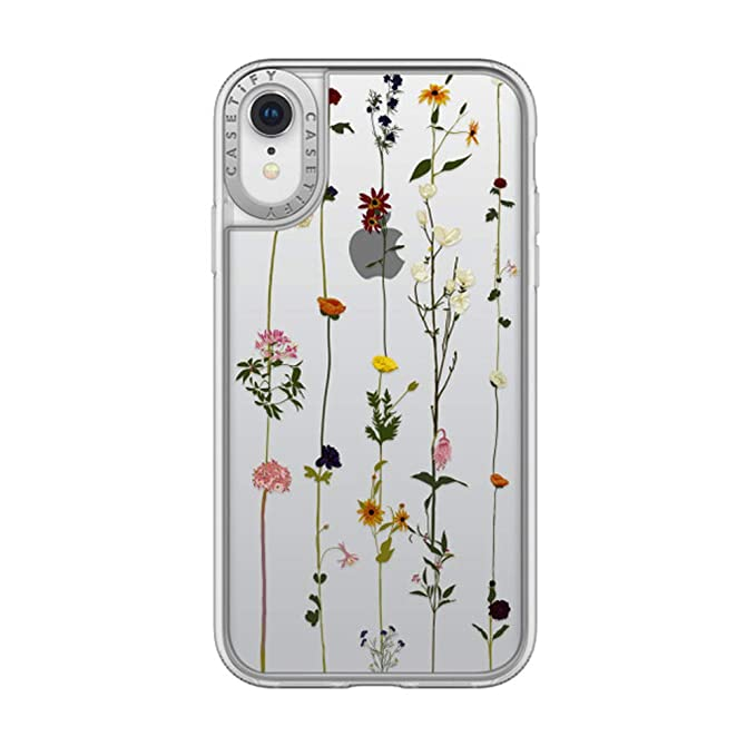 low priced 5024d d1c49 Casetify CTF29137286311900 Grip Case for Apple iPhone XR Floral Clear