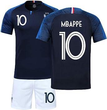 LSY Camisetas de fútbol Camiseta Deportiva y pantalón de fútbol de 2 Estrellas de Francia Copa Mundial de Fútbol de Francia 2018 Copa Mundial de Fútbol de Francia,BlueN°10,XXXS: Amazon.es: Deportes y aire