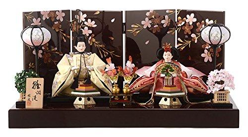 雛人形 コンパクト ひな人形 雛 親王飾り 平飾り 雅泉作 雛爛漫 紀州塗 h293-fzcp-47g100   B01NANTA28