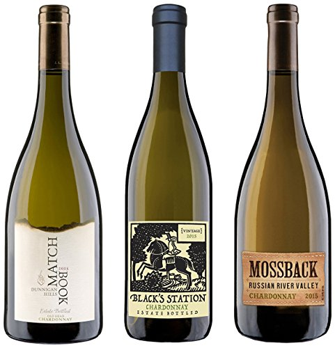 Matchbook Wine Co California Chardonnays Mixed Pack Wines 3 x 750 mL