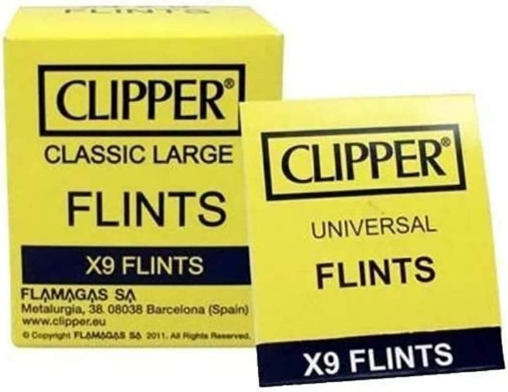 Mechero met/álico de gasolina con rueda para cigarrillos. Clipper Flint