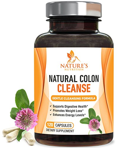 Colon Cleanse 120 Capsules - Natural Colon Cleanse for Gentle Weight Loss 1050mg. Healthy Detox to Support Weight Loss & Increased Energy Levels. Made with Herbs & Probiotics, Super Cleanse Plus Health Supplement - 120 Capsules