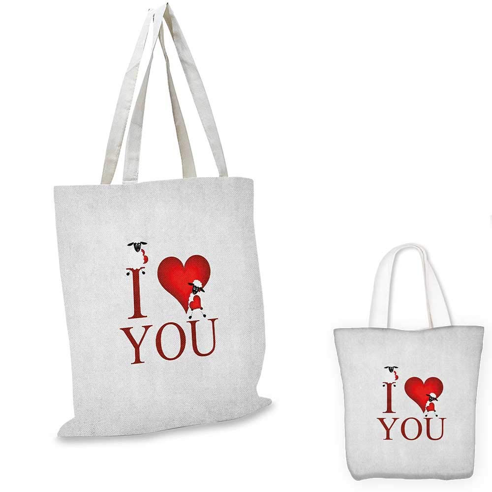12x15-10 I Love You canvas messenger bag Different Typographic Texts Expressing Love Affection Scribble Hearts canvas beach bag Purple Scarlet White